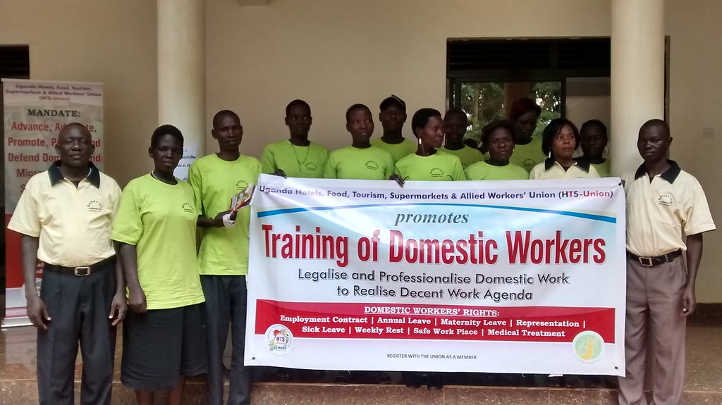 2016-8-13~14 Uganda: Awareness campaign and training of domestic workers by UHFTAWU