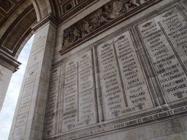 P5281799 エトワール凱旋門(アルク・ドゥ・トリヨーンフ・ドゥ・レトワール/Arc de triomphe de l'Étoile) パリ フランス paris france