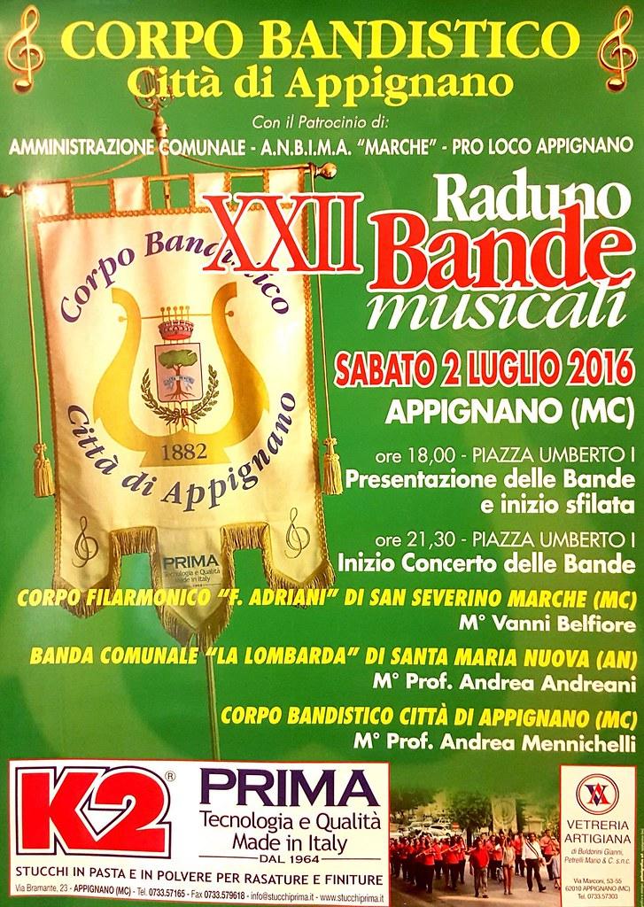 Locandina XXII Raduno Bande ad Appignano