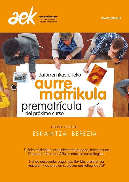 Aurrematrikulazioa AEK