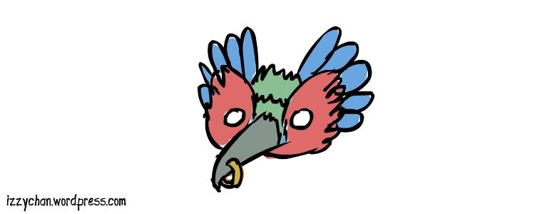 fancy opera mask bird feathers
