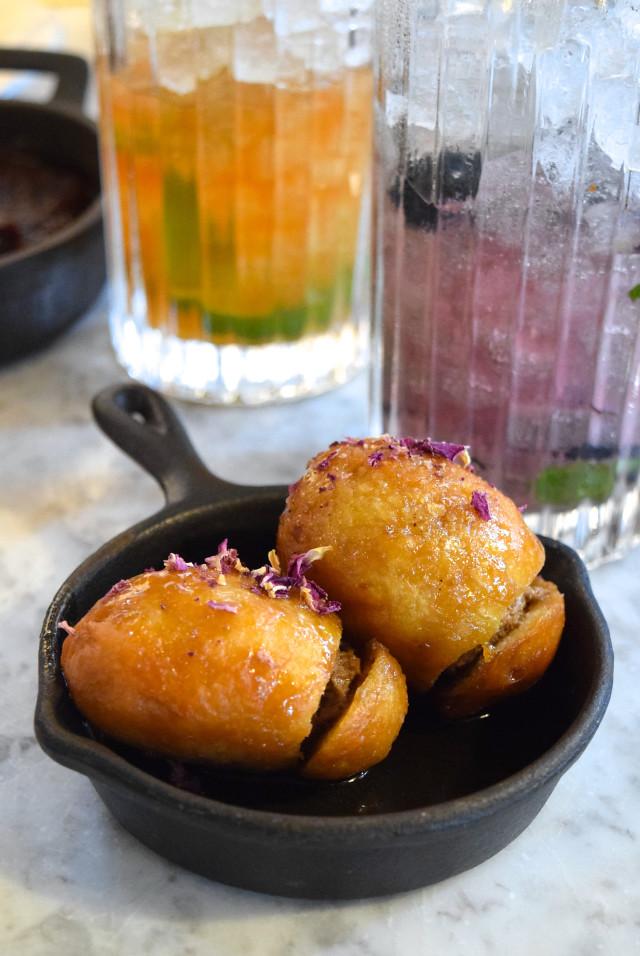 Chicken Liver Parfait Doughnuts at Le Bab, Soho | www.rachelphipps.com @rachelphipps