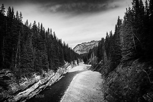 Cascade River B&W