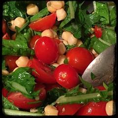 #chickpea #tomato #chicory #basil #salad #Homemade #CucinaDelloZio -