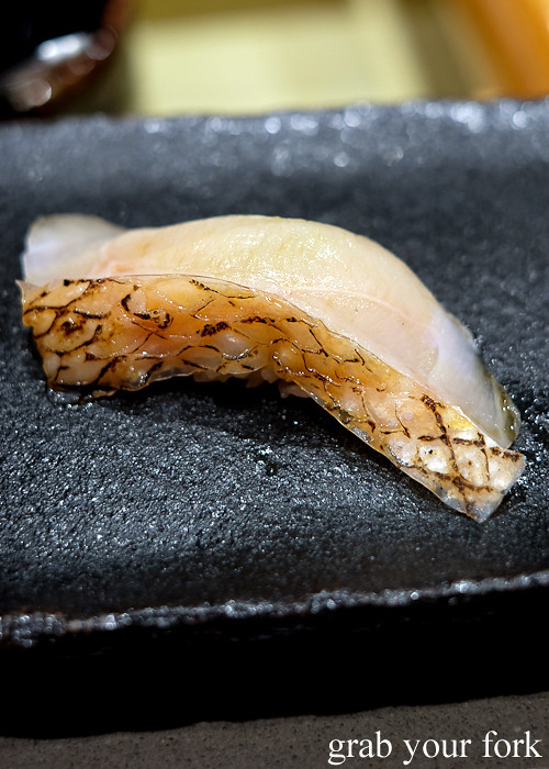 Imperador alfonsino nigiri sushi at Hana Ju-Rin in Crows Nest Sydney