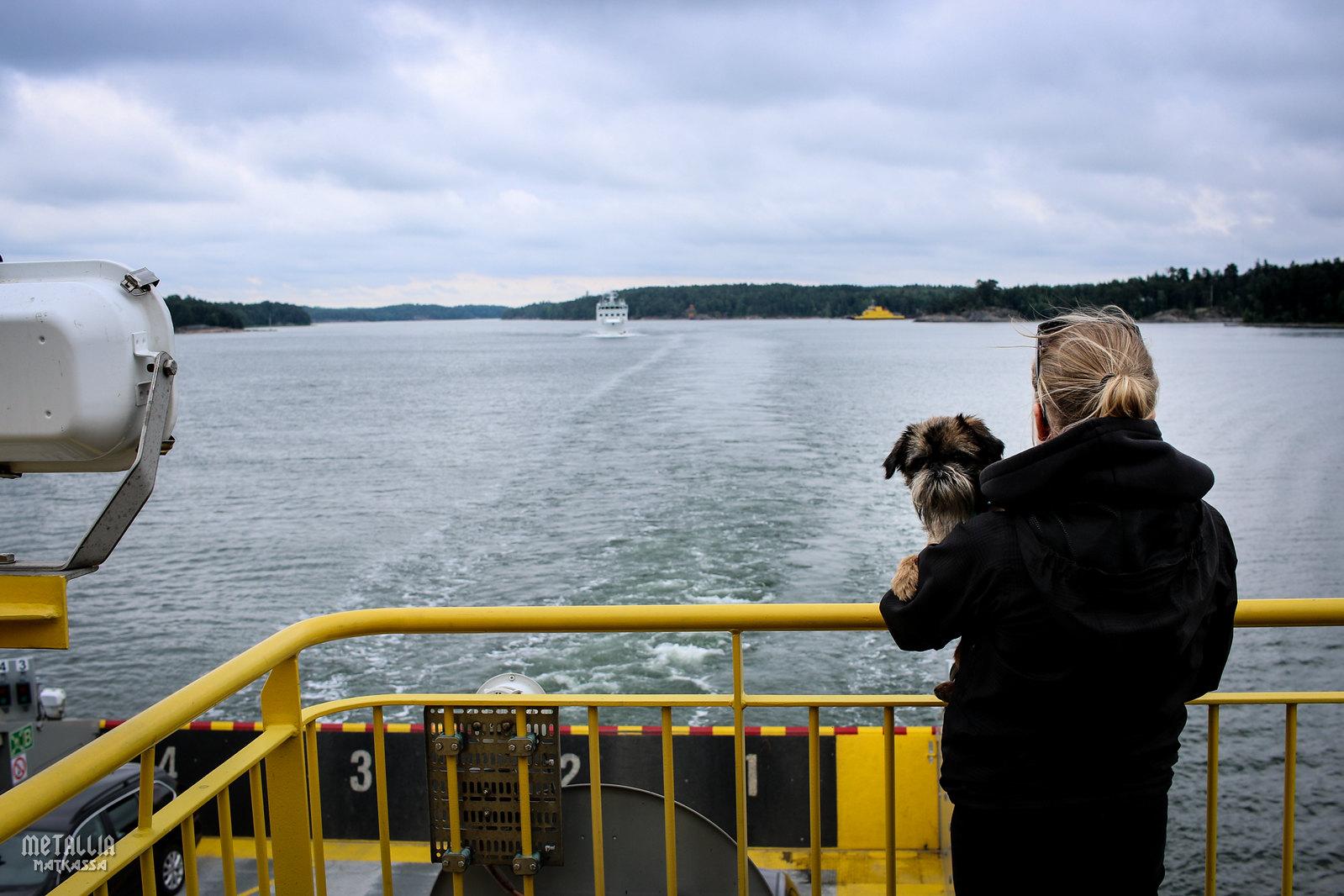 saariston rengastie, autolla saariston rengastiellä, koiran kanssa matkustaminen