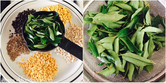 Curry Leaves Powder Recipe for Toddlers and Kids - step 1