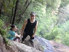 Me and Sophie at the top of Davis Creek Falls
