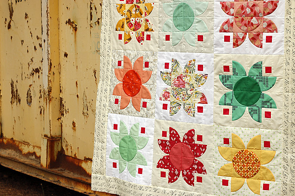 Lotus quilt top