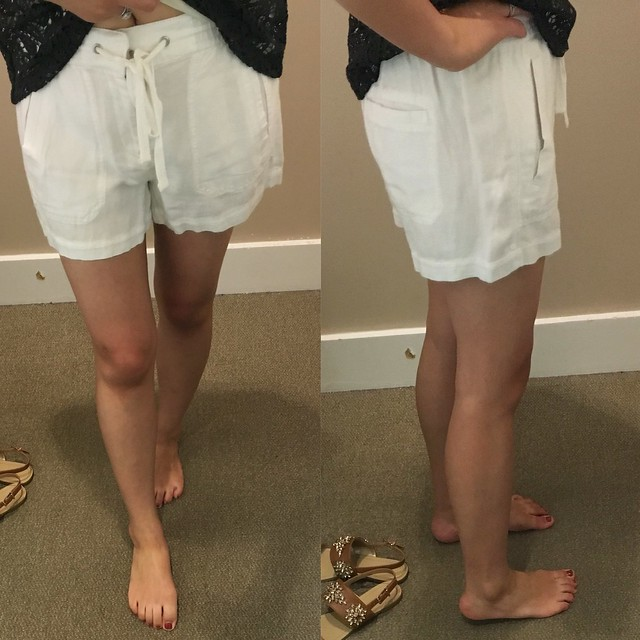 Lou & Grey Brushed Linen Shorts, size XS regular