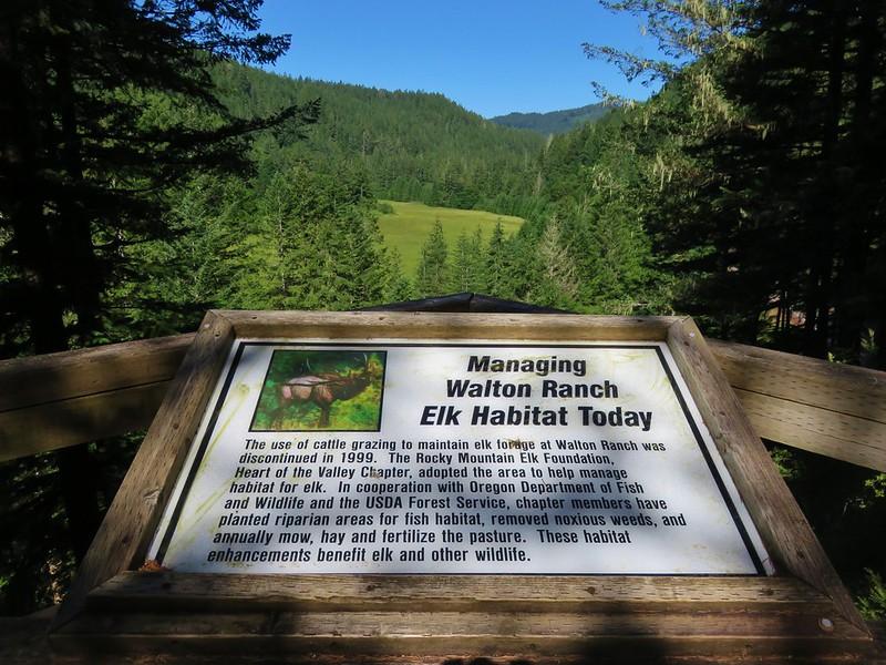 Interpretive sign along the Walton Ranch Interpretive Trail