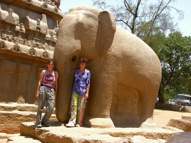 Elefante de Indra en las Rathas de Mamallapuram
