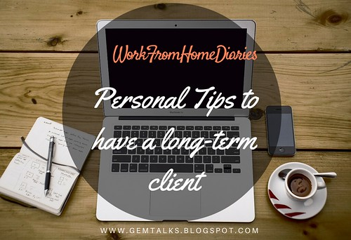 Personal Tips to have a long-term client