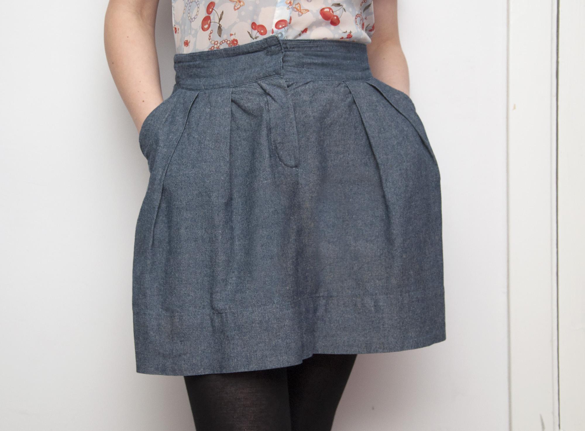 Burdastyle pleated chambray skirt