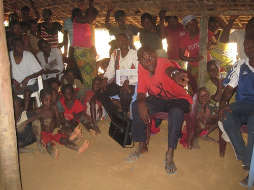 2012_Chief of Balanga sector (from east) helping with outreach in western village of Yalombe