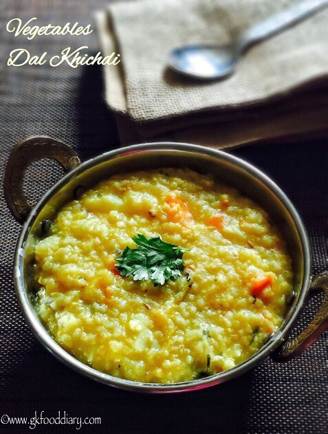 Vegetables Dal Khichdi Recipe for Babies, Toddlers and Kids3