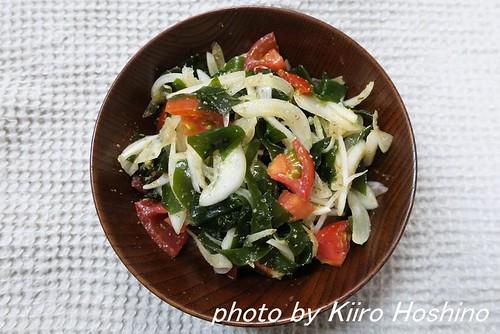 わかめとトマトの中華風酢の物(2016