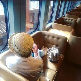 悠閒自在之現美新幹線自由席。