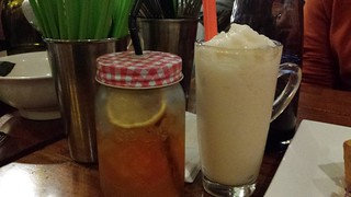 Lemon Iced Tea and Custard Apple Smoothie from Fina's 2