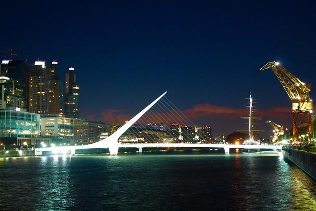 Puente de la Mujer Bridge, Buenos Aires