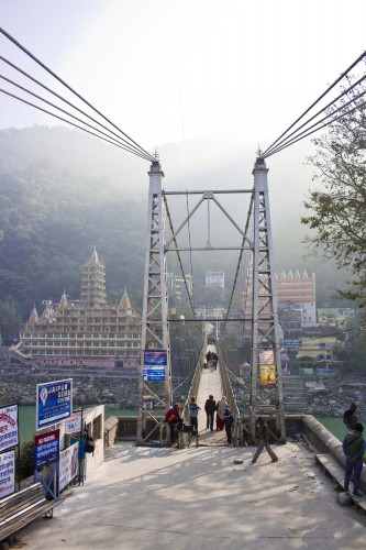 Ram Jhula in Rishikesh, Uttarakhand, India