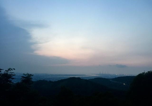 夜爬 台中大肚山,萬里長城步道