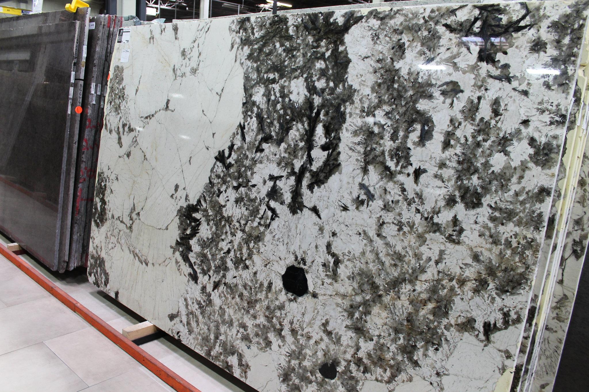 Alpine White Granite Slab