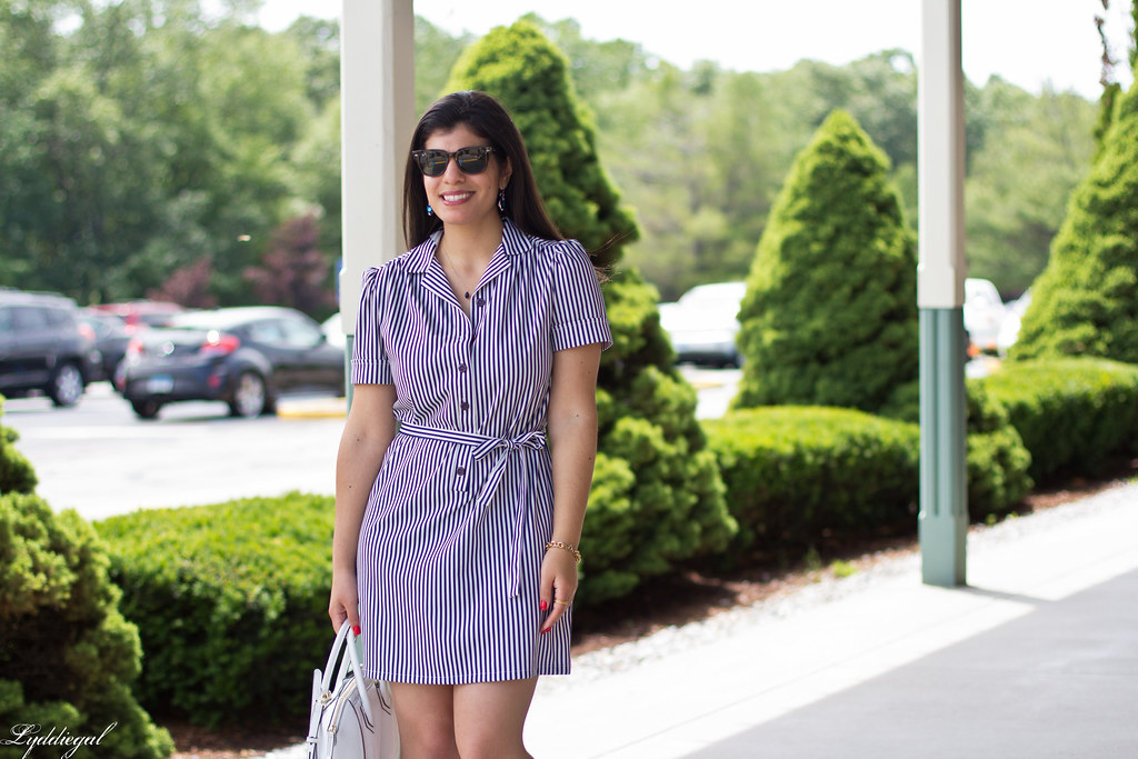 striped shirt dress, blue sandals, white bag-7.jpg