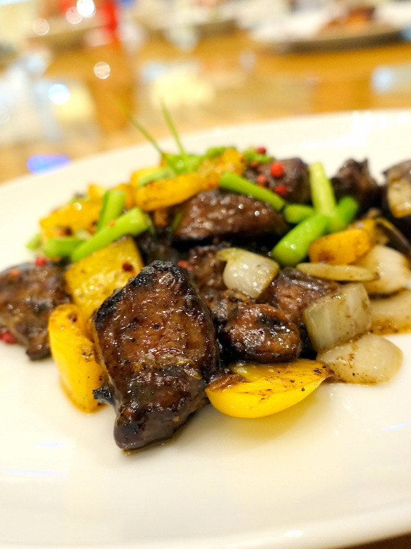 Conrad Manila's China Blue by Jereme Leung- Wok Fried Beef Tenderloin Cubes with Hunan Pepper P950