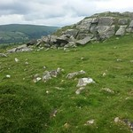 Wittaburrow higher outcrop, Dartmoor
