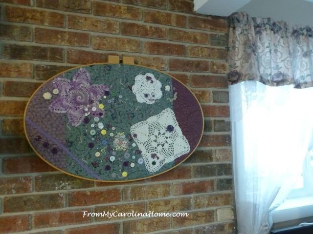 Quilted Art Project Finishing ~ From My Carolina Home
