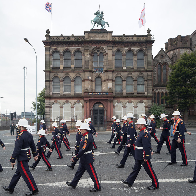 Marching Past the Clifton Street Orange Hall