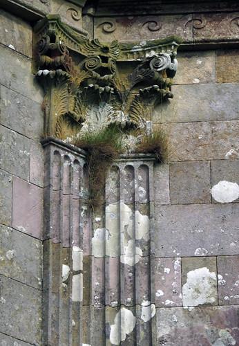 Downhill Demesne ruins in Ireland, UK