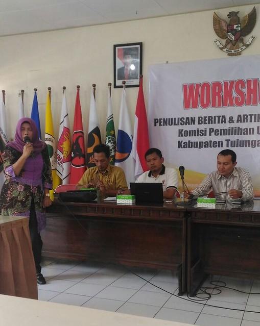 Lilik Wijayati saat Pembukaan Kegiatan Workshop(3/6)