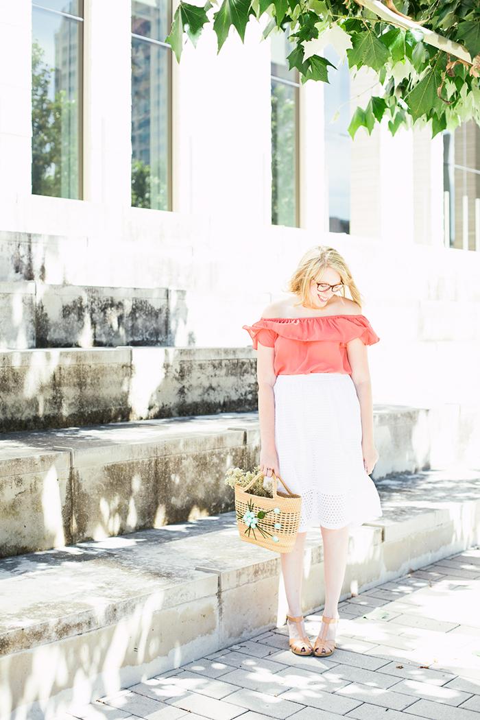 off the shoulder blouse eyelet skirt9