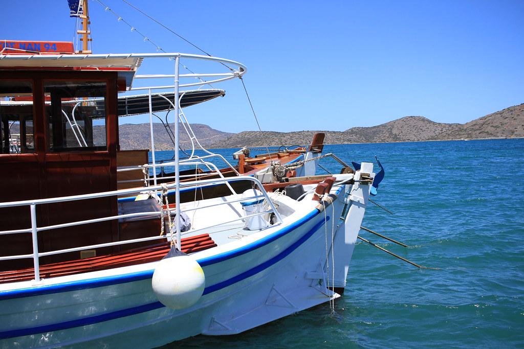 Boat to Spinalonga