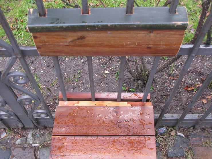 Outdoor church benches