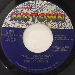 THE JACKSON 5:MAY BE TOMORROW(LABEL SIDE-B)