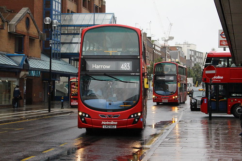 Metroline West VW1264, VW1246 on Route 483, Harrow Bus Station