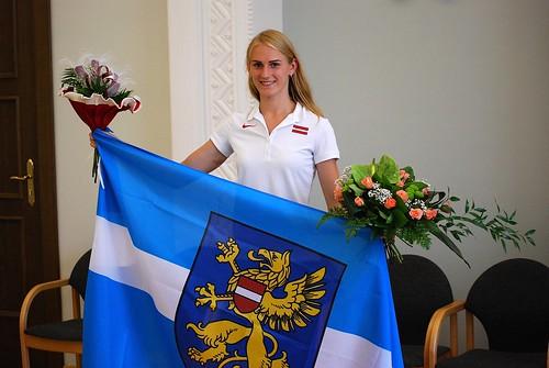 Gunta Latiševa-Čudare pavadīšāna uz Olimpiskajām spēlem (01.08.2016)