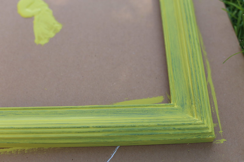 chalk painting a frame