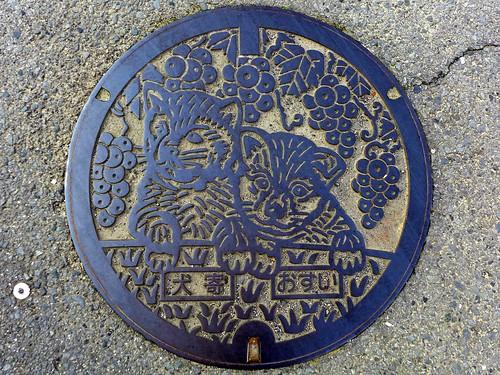 Inuyose Nakayama Ehime, manhole cover (愛媛県中山町犬寄のマンホール)