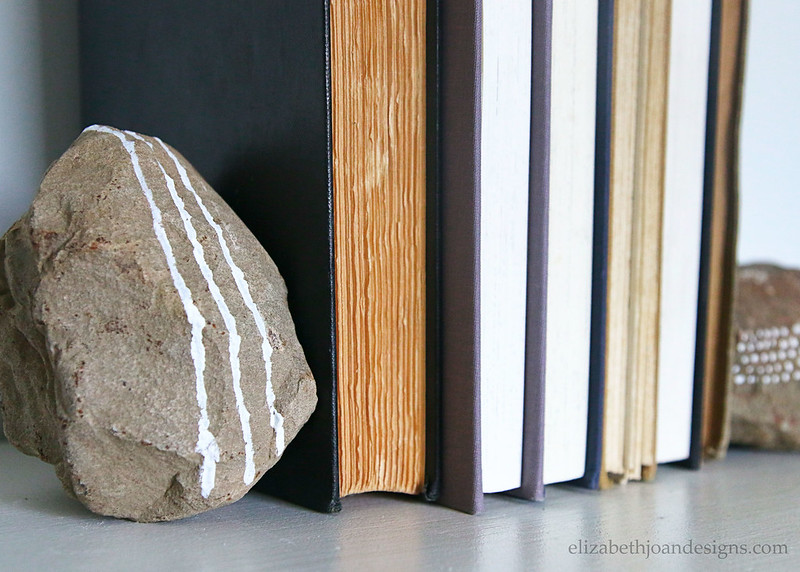 Fieldstone Bookends Decor Vintage Books
