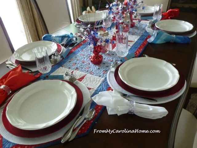 Patriotic Tablescape 2016 ~ From My Carolina Home