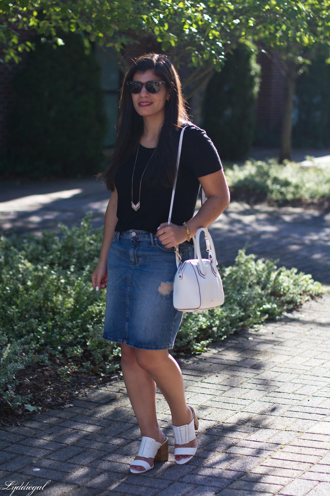 black tee, denim pencil skirt, rebecca minkoff camila sandal.jpg