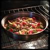 #ZucchiniBlossom #Mushroom #Potato Frittata  #Homemade #CucinaDelloZio - in oven on broil
