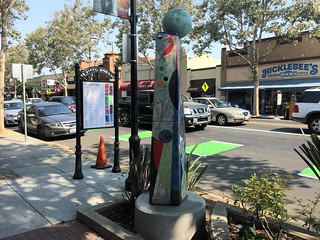 New Sculpture, Lincoln Avenue San Jose CA, August 2016