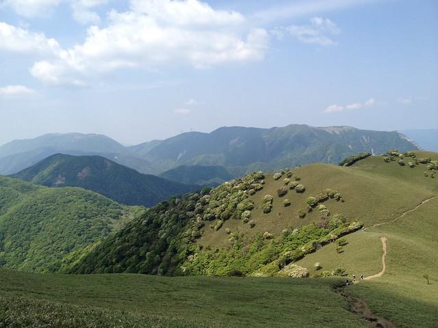 竜ヶ岳より御池岳・藤原岳