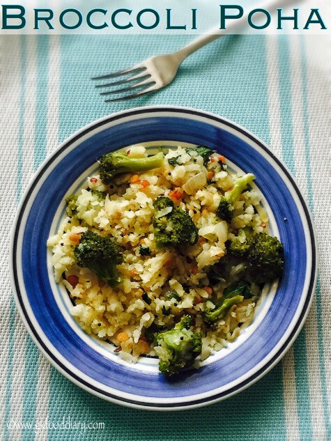 Broccoli Poha Recipe for Babies, Toddlers and Kids1