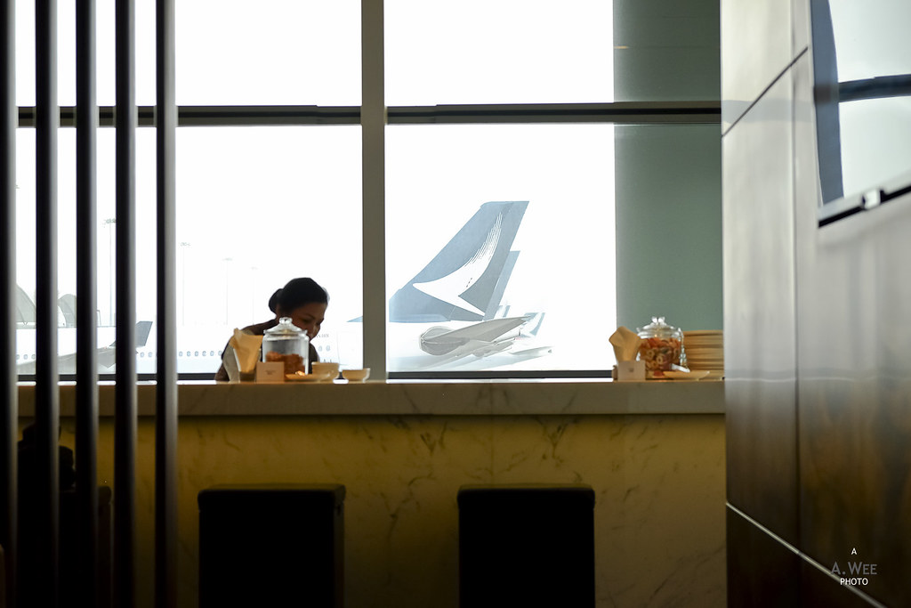 Cathay livery from the lounge